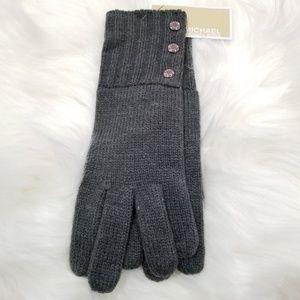 MK gray gloves